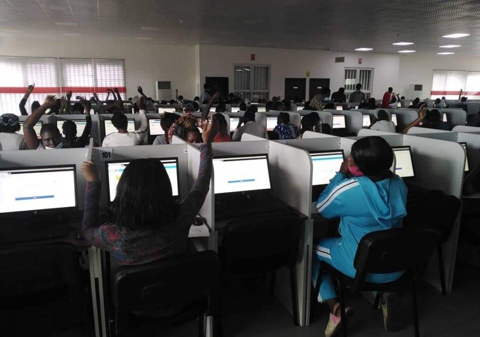 Entrance Exam for the Lagos State College of Nursing held at the LASU CBT Center
